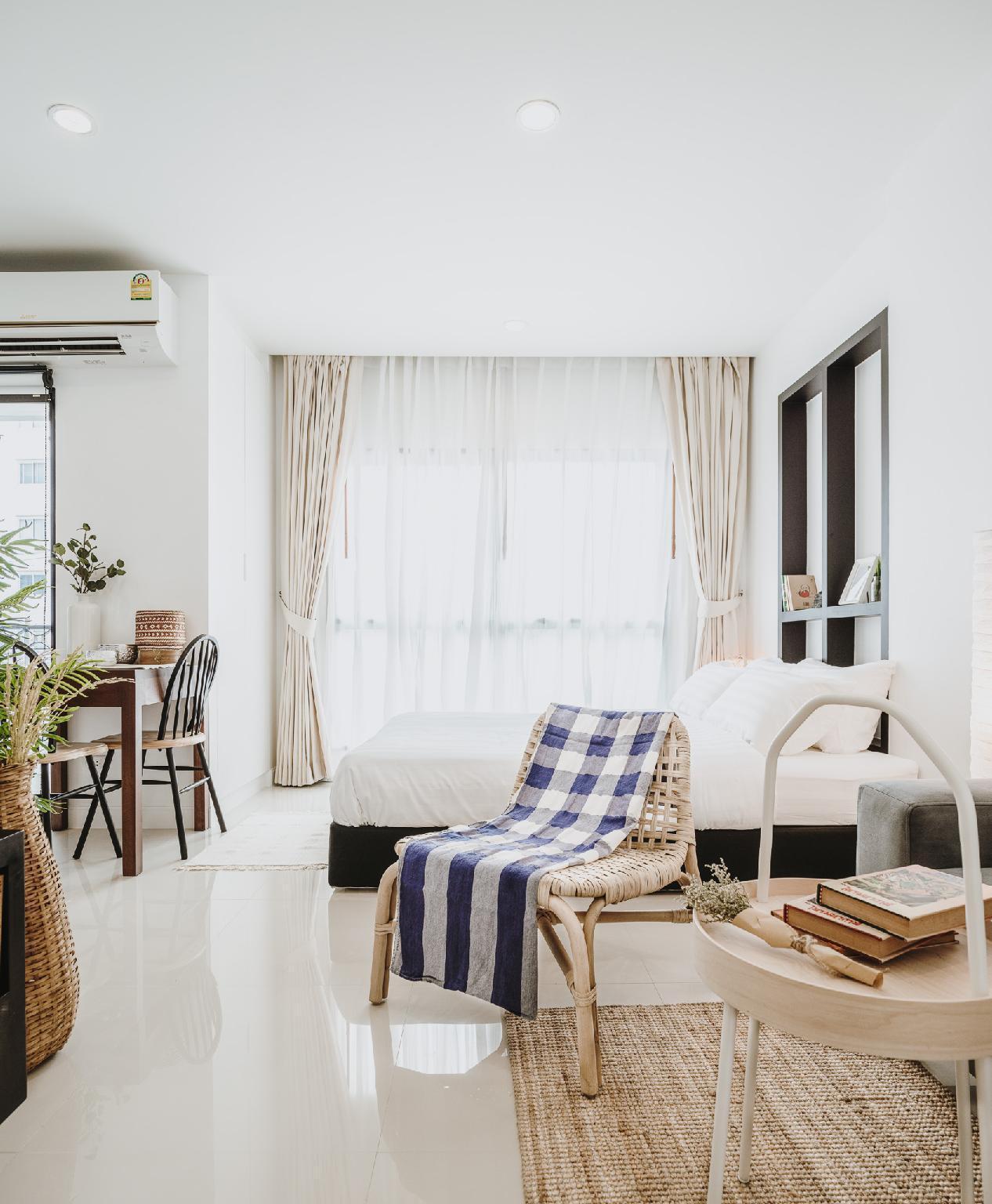 Siamplaengna Residence อพาร์ตเมนต์ 1 ห้องนอน 1 ห้องน้ำส่วนตัว ขนาด 23 ตร.ม. – รัชดาภิเษก