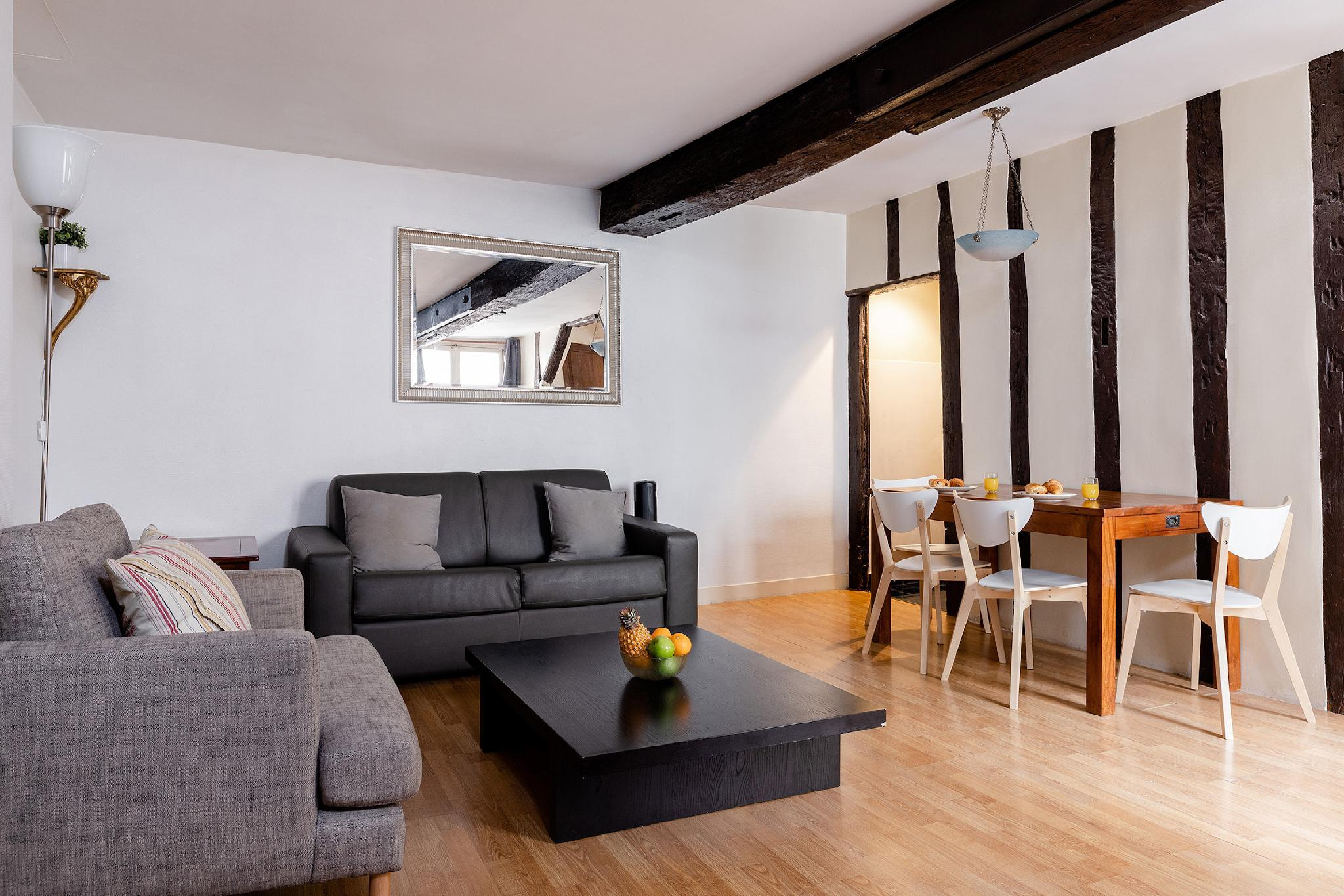 LES HALLES -BEAUTIFUL 1BR IN THE HEART OF PARIS