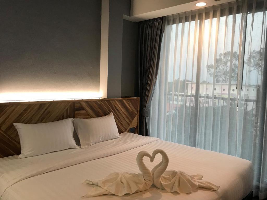 Ou Hotel by Neaw Duluxe King Room TwinBed 1 สตูดิโอ อพาร์ตเมนต์ 1 ห้องน้ำส่วนตัว ขนาด 34 ตร.ม. – วัดจันทร์