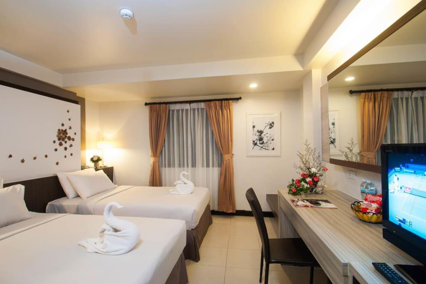 Amazing Location Room Twin Beds 2 Minutes To Beach