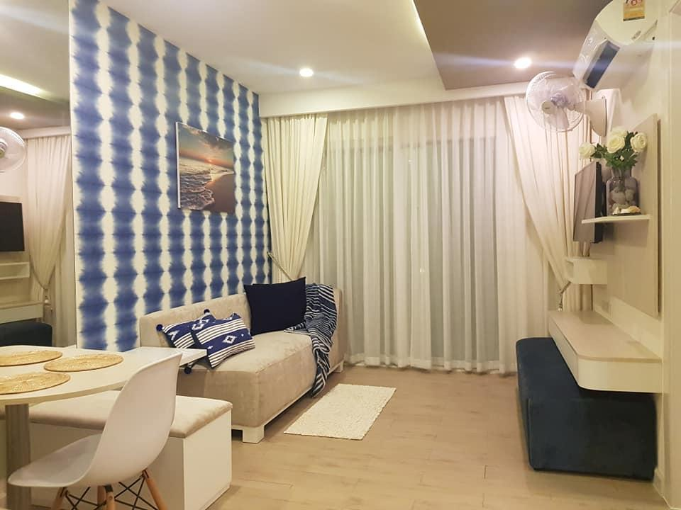 Seven Seas Condo อพาร์ตเมนต์ 1 ห้องนอน 1 ห้องน้ำส่วนตัว ขนาด 37 ตร.ม. – หาดจอมเทียน