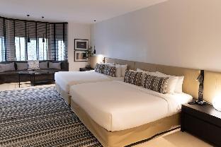 [バンコクリバーサイド](30m2)  1ベッドルーム/1バスルーム A cozy living with two king size beds