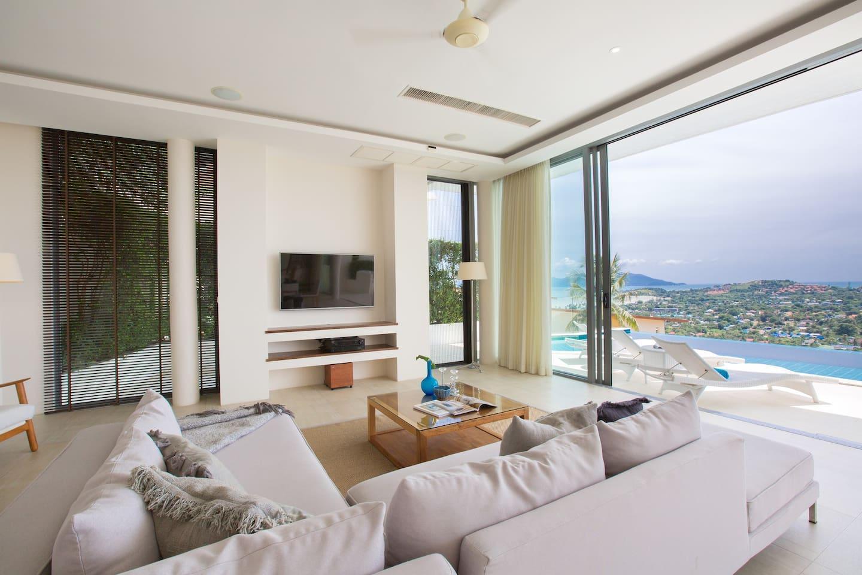 Luxury Villa-Blue Sapphire Ocean View-Sunrise View วิลลา 4 ห้องนอน 4 ห้องน้ำส่วนตัว ขนาด 310 ตร.ม. – เชิงมน