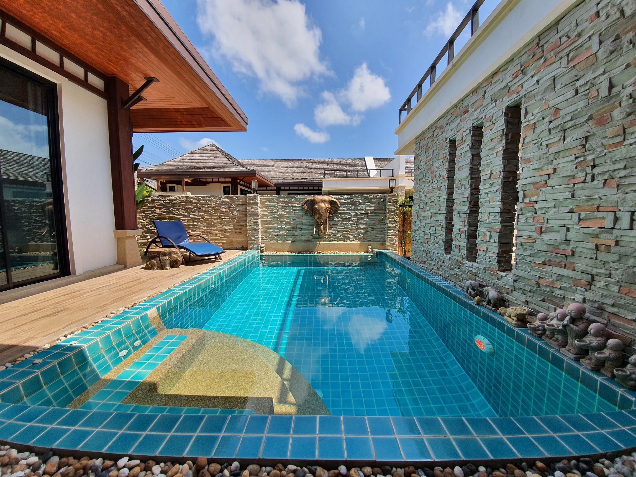 Rawai Beach, Simple style private villa with pool วิลลา 2 ห้องนอน 3 ห้องน้ำส่วนตัว ขนาด 200 ตร.ม. – ฉลอง