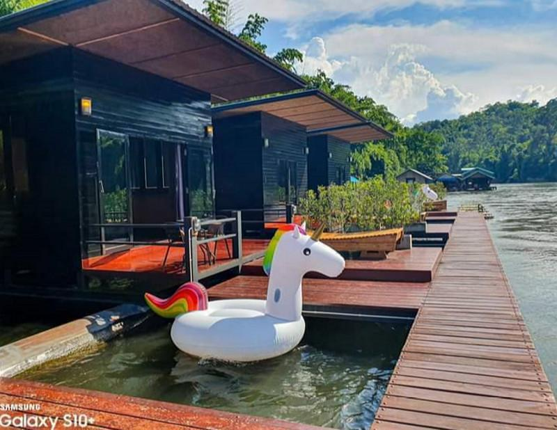 Ban Yok Floating House #3 สตูดิโอ อพาร์ตเมนต์ 1 ห้องน้ำส่วนตัว ขนาด 28 ตร.ม. – ไทรโยค