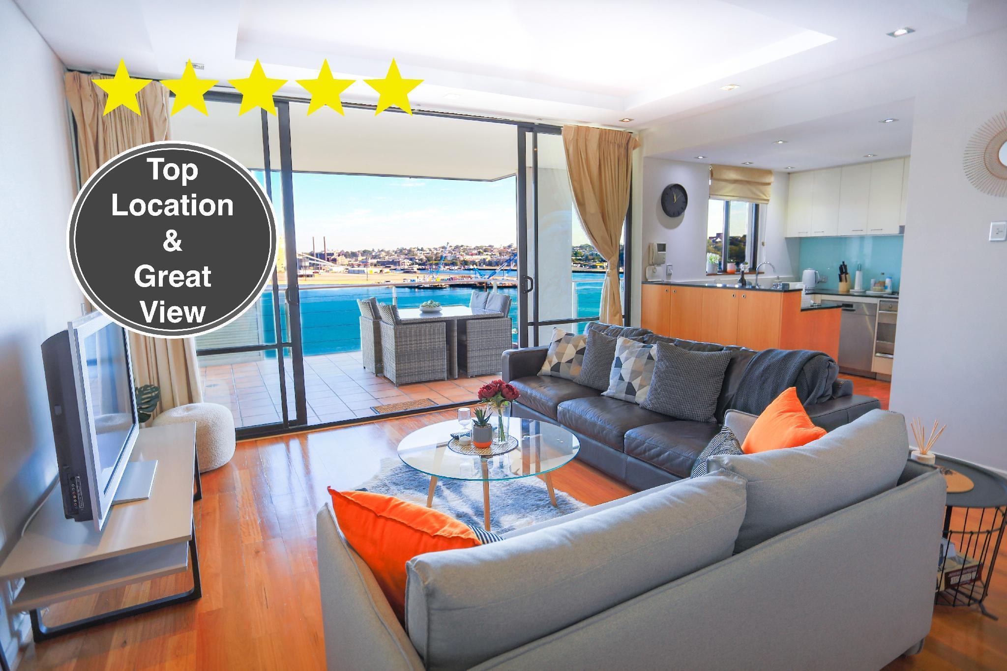 Sydney CBD 3BR Luxury Waterside Apartment