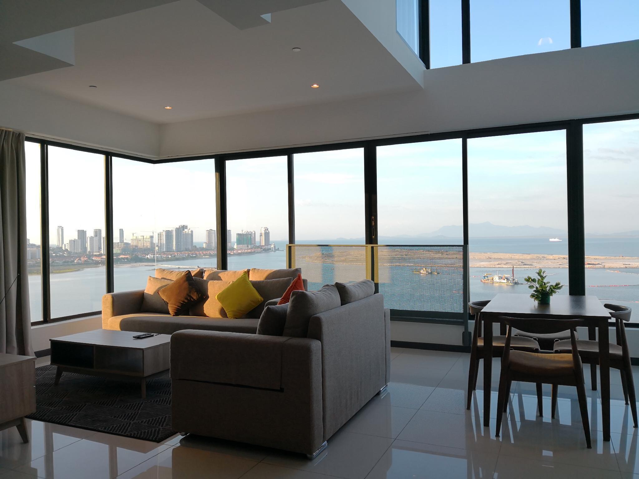 2BR Seaview Duplex @ Sunrise Gurney
