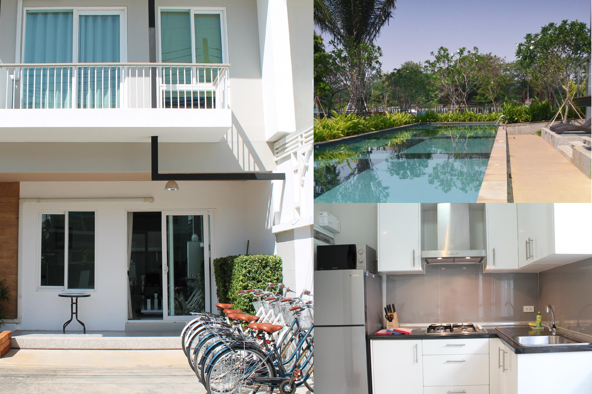KK192 Lovely 3 Bedrm Townhouse With Free Bicycles