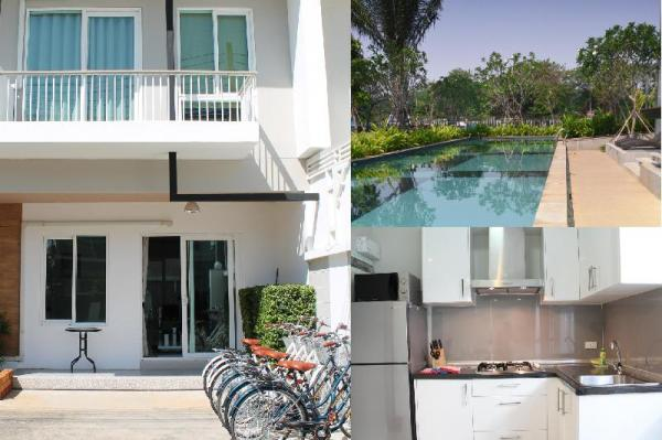 KK192 Lovely 3 bedrm townhouse with free bicycles Chiang Mai