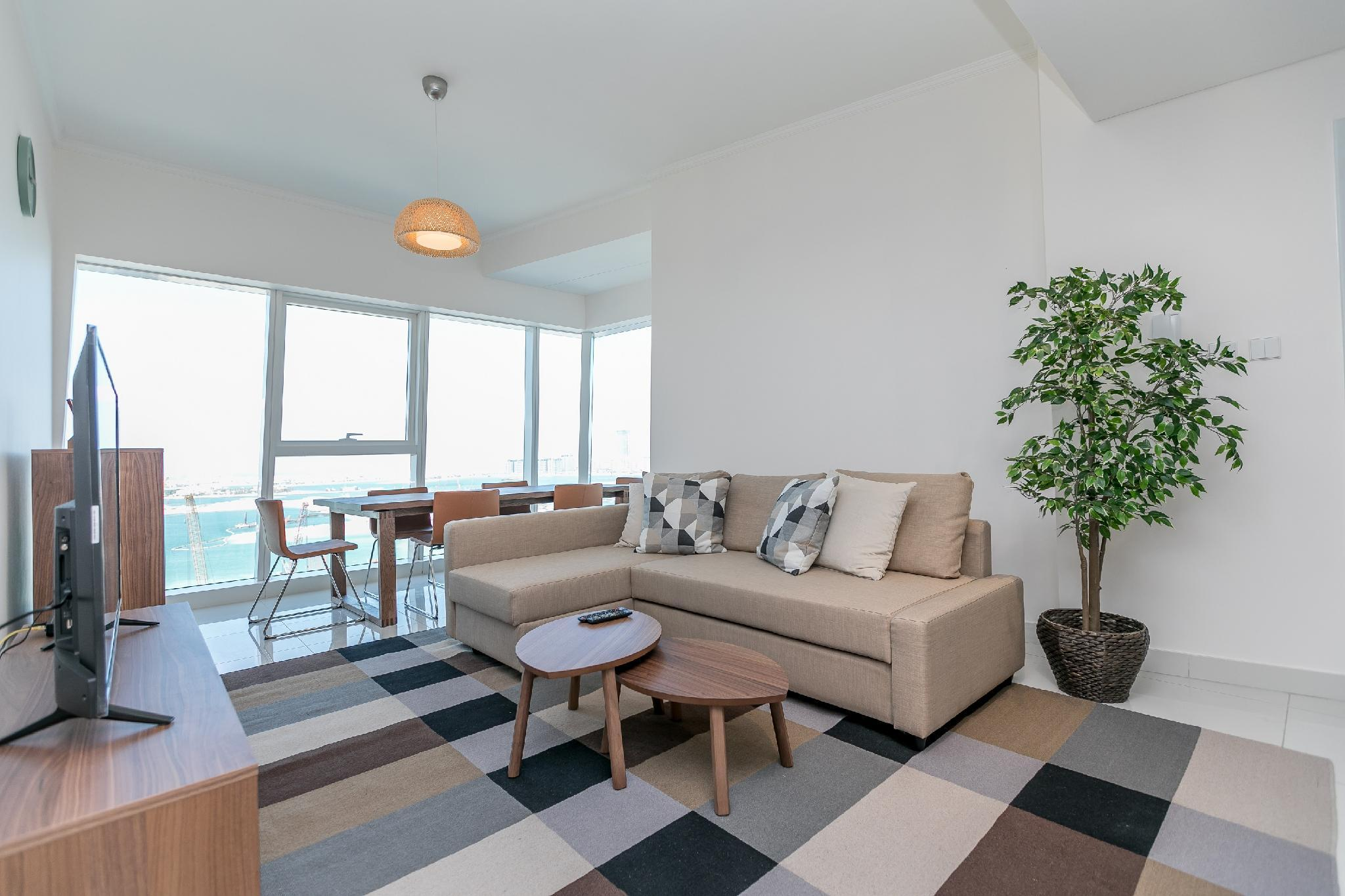 Bright Sea View 2BR In DAMAC Heights  1601