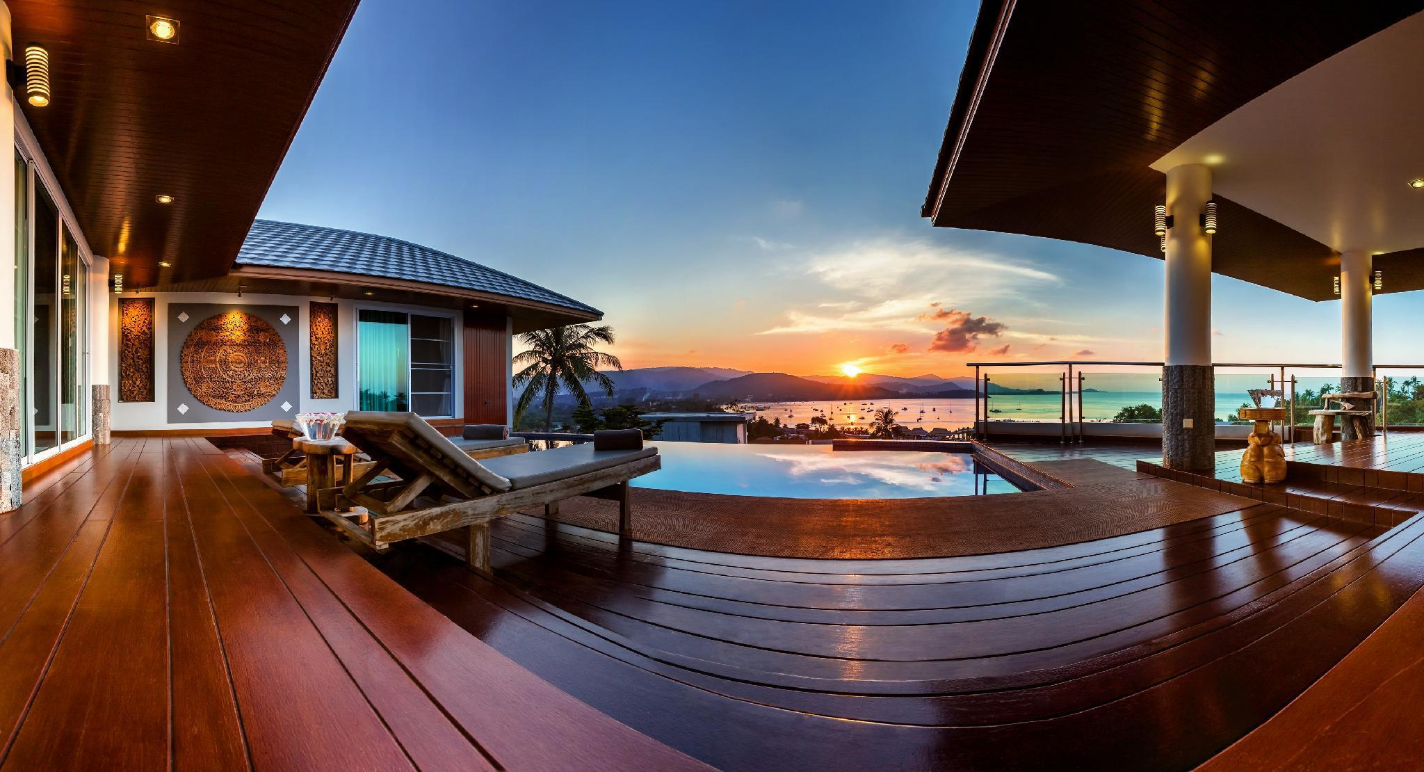 Sunset Pool Villa at Pier, Center of main facility วิลลา 5 ห้องนอน 7 ห้องน้ำส่วนตัว ขนาด 600 ตร.ม. – เชิงมน