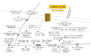 Amber Home อพาร์ตเมนต์ 1 ห้องนอน 1 ห้องน้ำส่วนตัว ขนาด 35 ตร.ม. – ประตูน้ำ