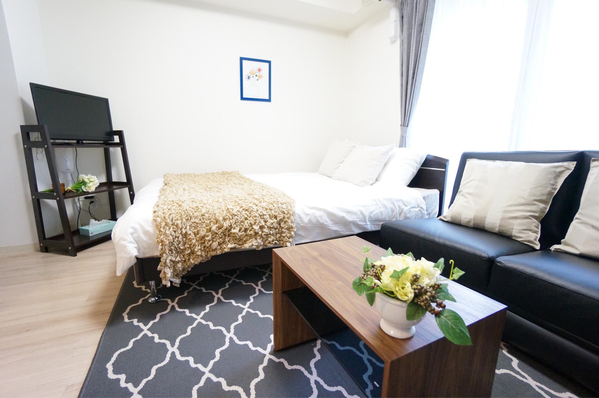 Free WIFI Near Umeda  Comfort Modern Chic Room 201