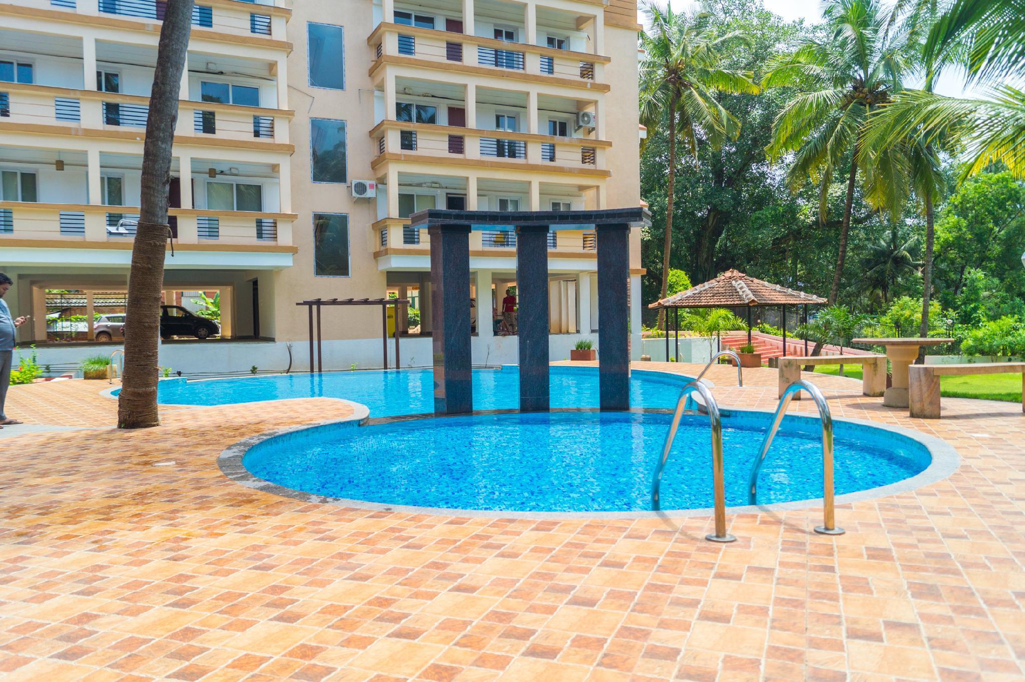 Aqua Goa 1 Bhk Deluxe Appartment Near Baga Beach