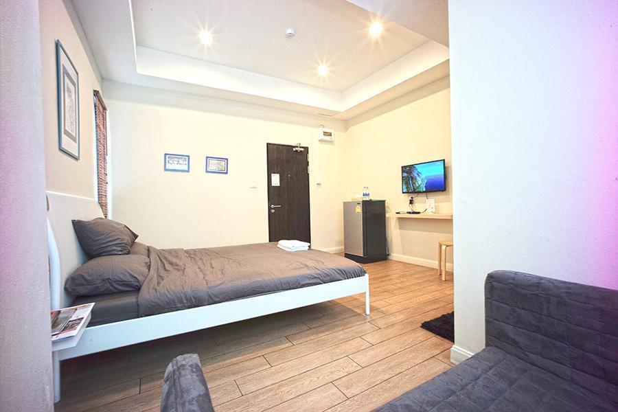 Standard King bed for 2 PAX สตูดิโอ อพาร์ตเมนต์ 1 ห้องน้ำส่วนตัว ขนาด 30 ตร.ม. – บางแสน