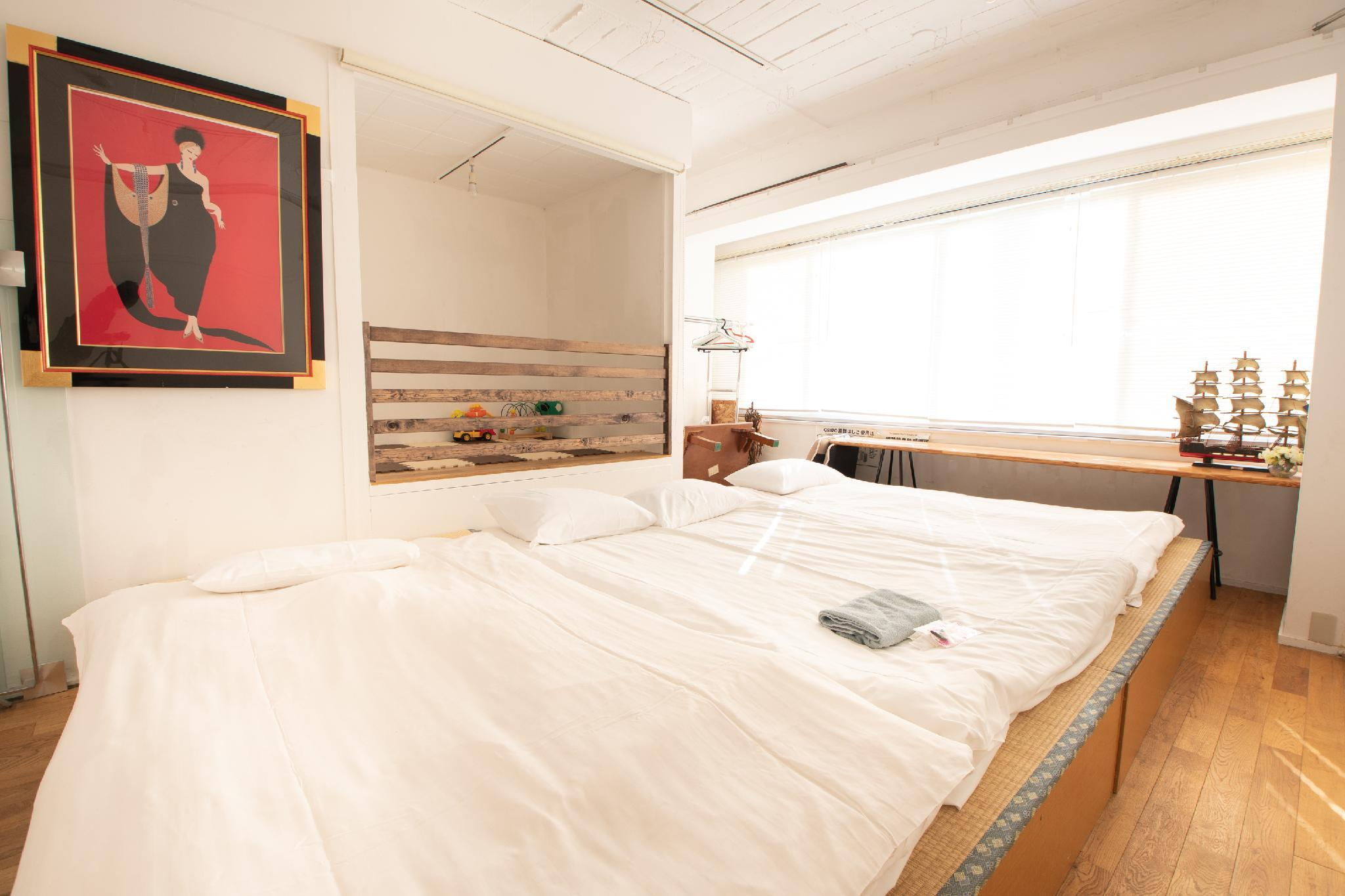 Muslim Friendly   Namba Area  2 BR Suite For 11pax