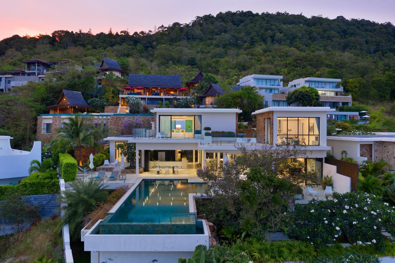 Villa Turquoise- Chaweng 7 Bedrooms With Seaview วิลลา 7 ห้องนอน 7 ห้องน้ำส่วนตัว ขนาด 1500 ตร.ม. – เชิงมน