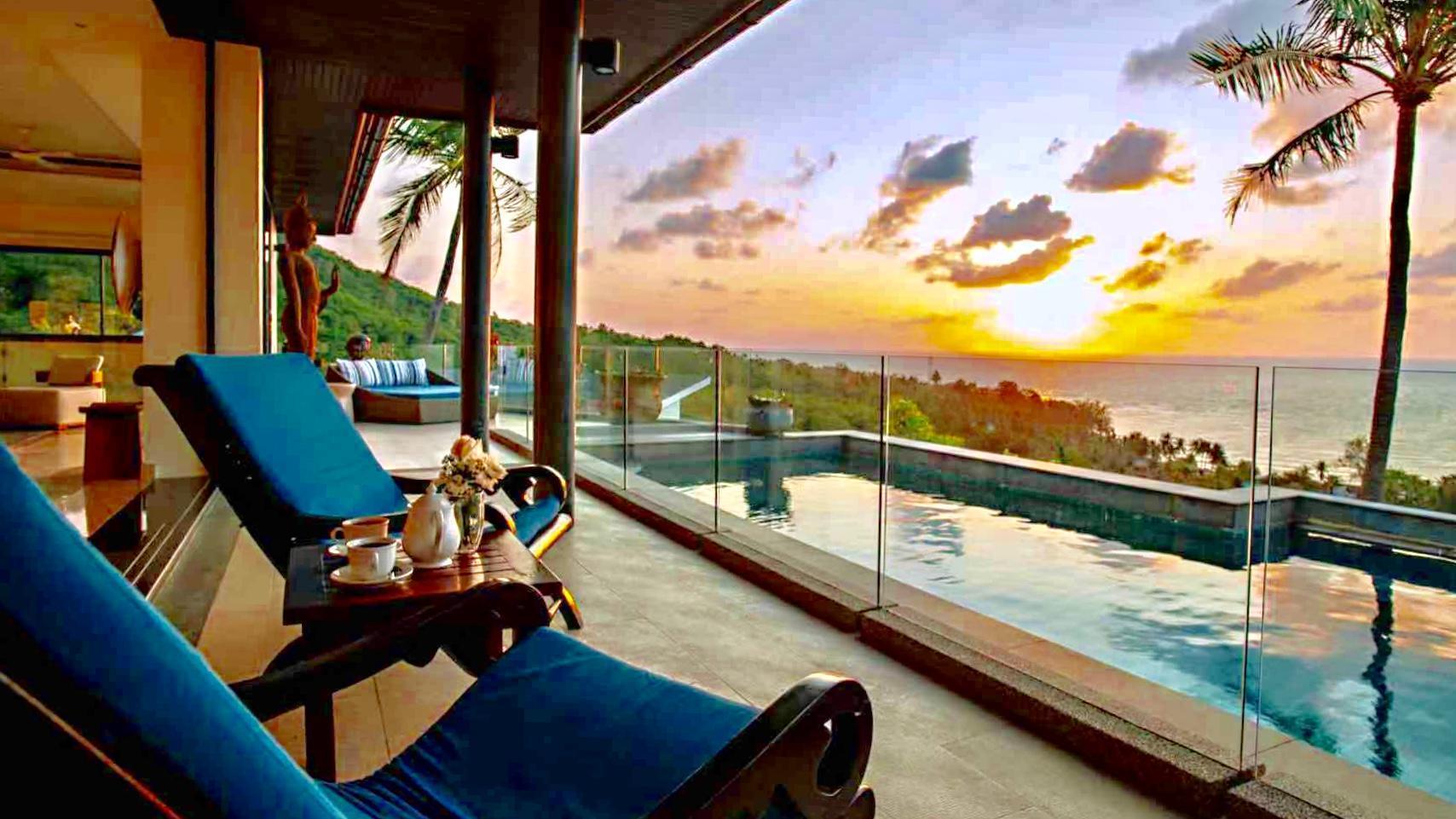 1st Cape, Koh Samui + Sea View + Pool + Video Room วิลลา 4 ห้องนอน 4 ห้องน้ำส่วนตัว ขนาด 320 ตร.ม. – หาดละไม