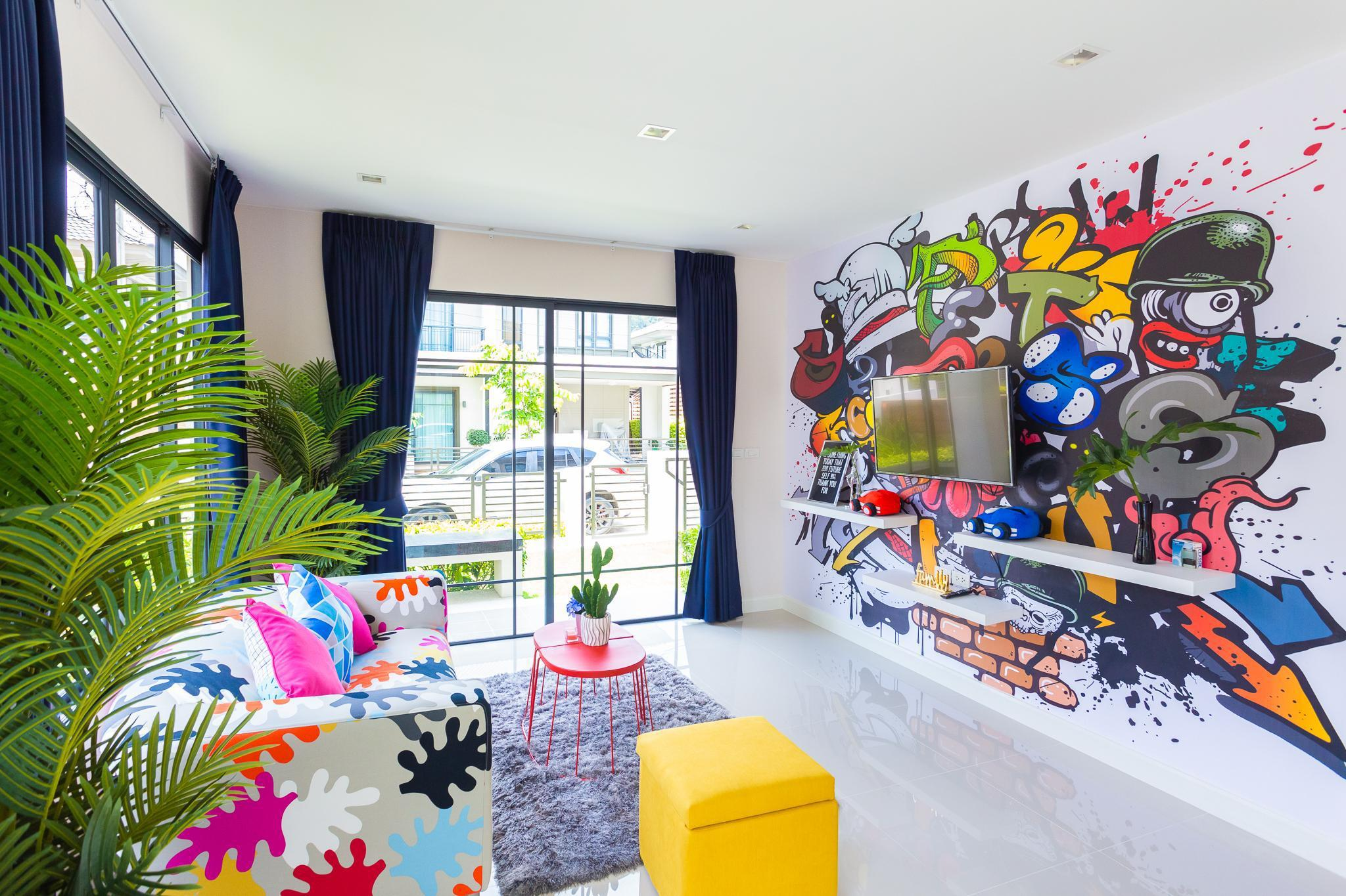 ColorChic Home - 3 BR ModernStyle, Large Pool บ้านเดี่ยว 3 ห้องนอน 3 ห้องน้ำส่วนตัว ขนาด 160 ตร.ม. – ป่าคลอก