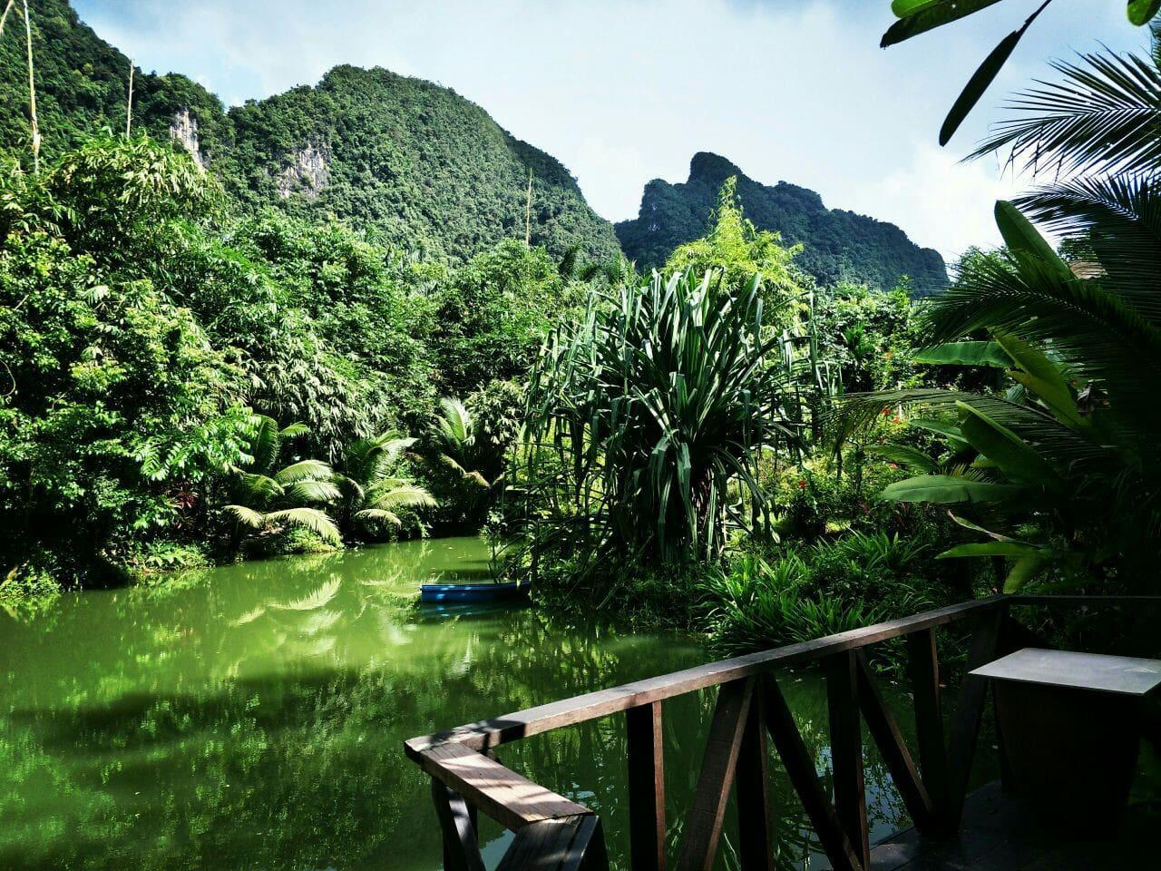 Bu Nga Sahree. On The Hill Facing A Peaceful Pond.