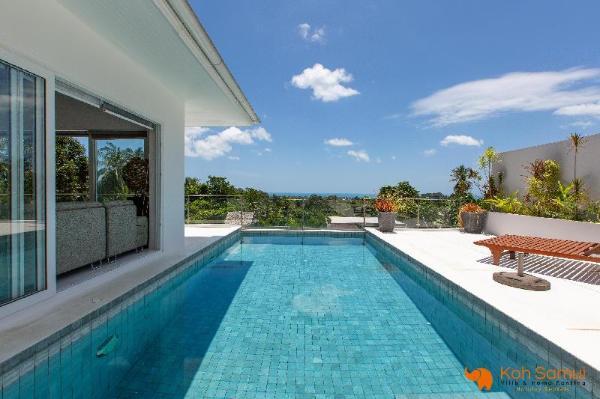 Modern & Spacious 4 bedroom pool villa & seaview Koh Samui