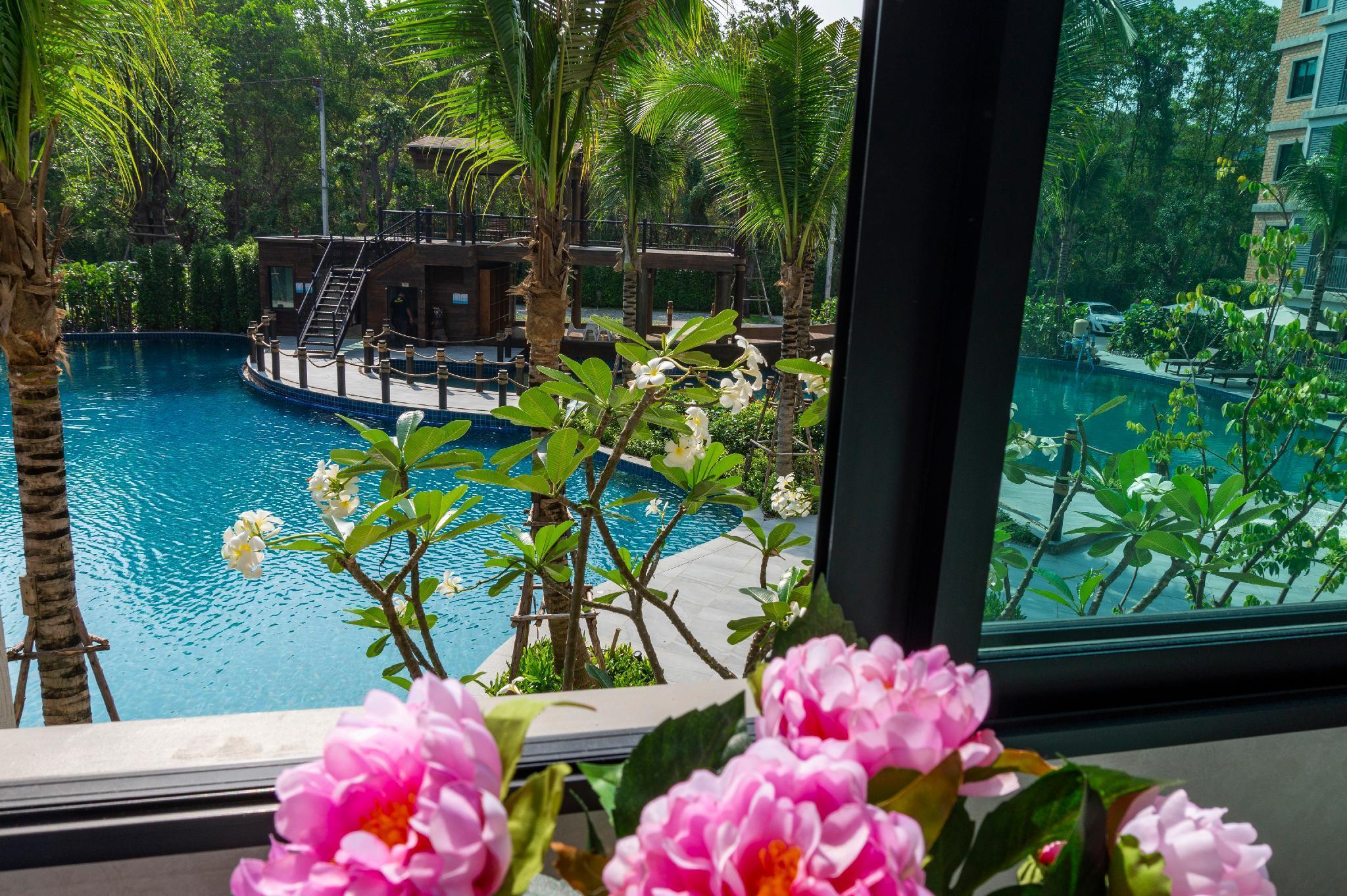 Flowers apartment Title residencies Phuket Naiyang อพาร์ตเมนต์ 1 ห้องนอน 1 ห้องน้ำส่วนตัว ขนาด 39 ตร.ม. – บางเทา