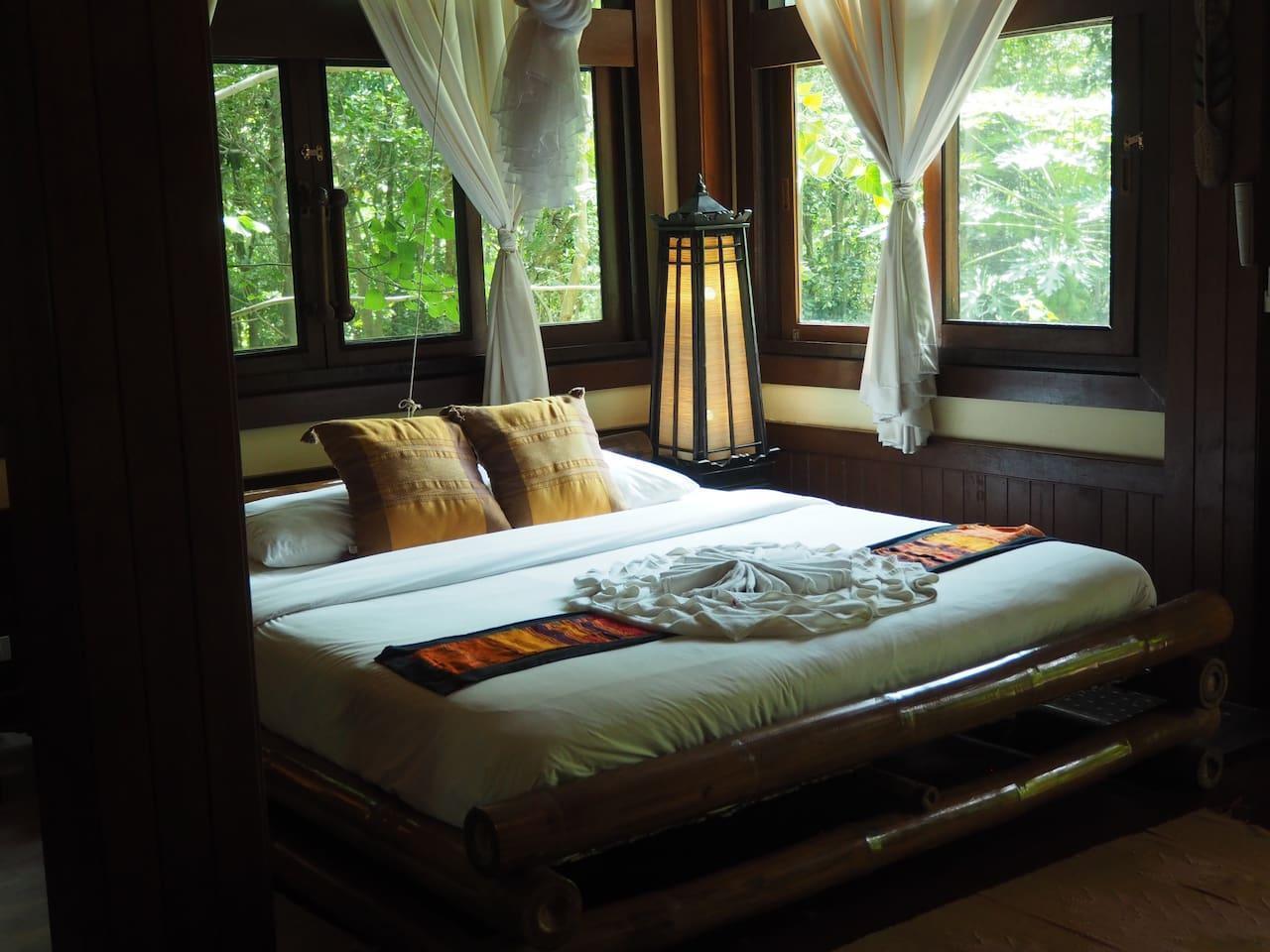 Luxurious Contemporary Deluxe Room - Sea View บังกะโล 1 ห้องนอน 1 ห้องน้ำส่วนตัว ขนาด 40 ตร.ม. – อ่าวโละดาลัม