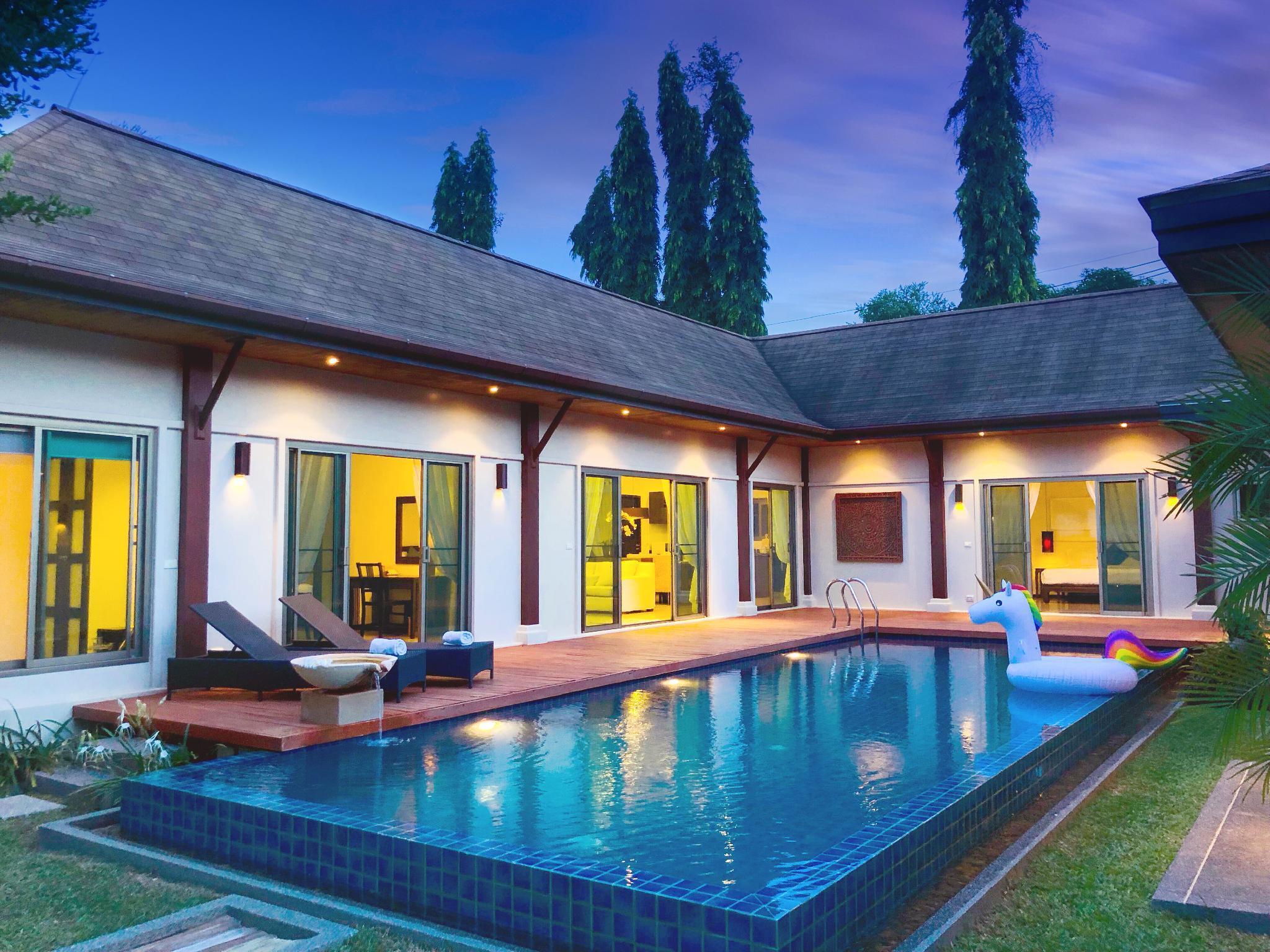 Naiharn Beac Tropical Garden Sea Salt Pool Villa วิลลา 3 ห้องนอน 3 ห้องน้ำส่วนตัว ขนาด 350 ตร.ม. – ในหาน
