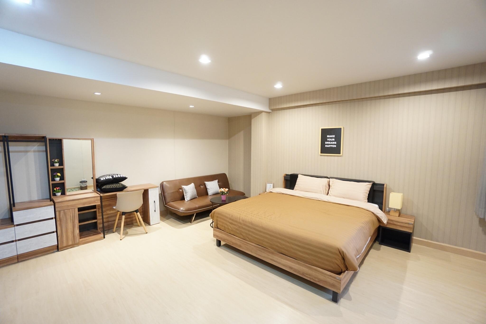 The best and cheap private room near Khaosan 409 สตูดิโอ อพาร์ตเมนต์ 1 ห้องน้ำส่วนตัว ขนาด 17 ตร.ม. – เยาวราช