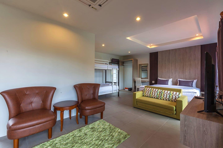 Spacious Family Room with a bunk bed on Phi Phi สตูดิโอ บังกะโล 1 ห้องน้ำส่วนตัว ขนาด 30 ตร.ม. – อ่าวโละดาลัม