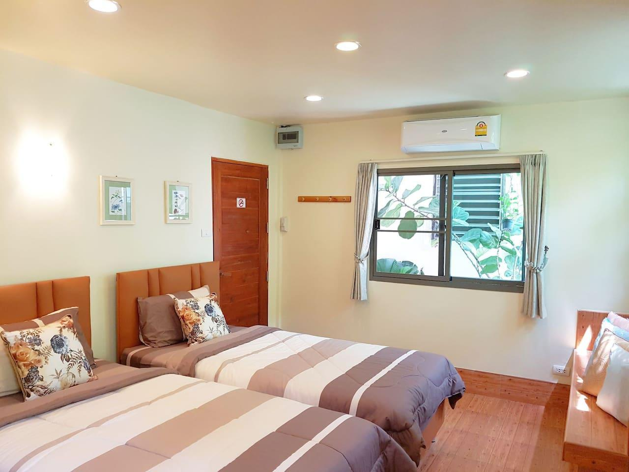 Nature Twin Bed Room 10 Mins To DMK Airport