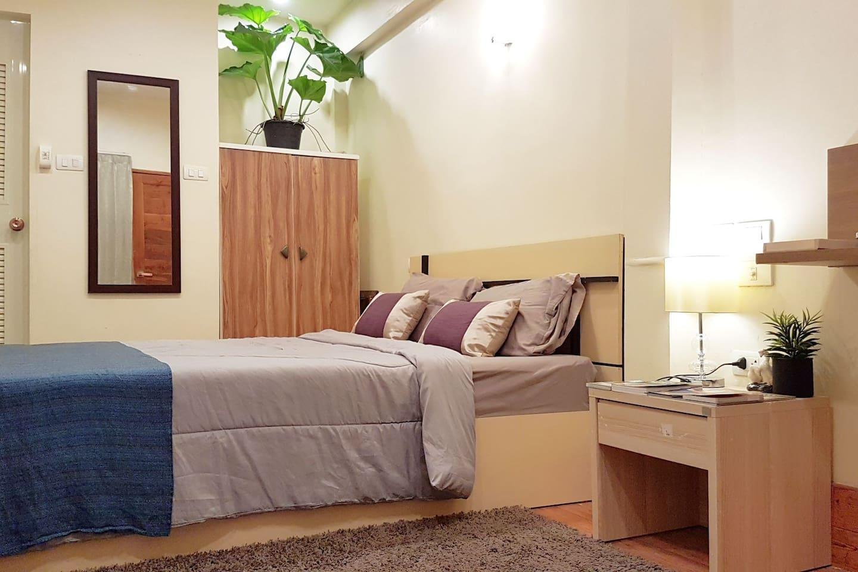 Nature Vibes Studio 10 mins to Don Mueang Airport อพาร์ตเมนต์ 1 ห้องนอน 1 ห้องน้ำส่วนตัว ขนาด 30 ตร.ม. – สนามบินนานาชาติดอนเมือง
