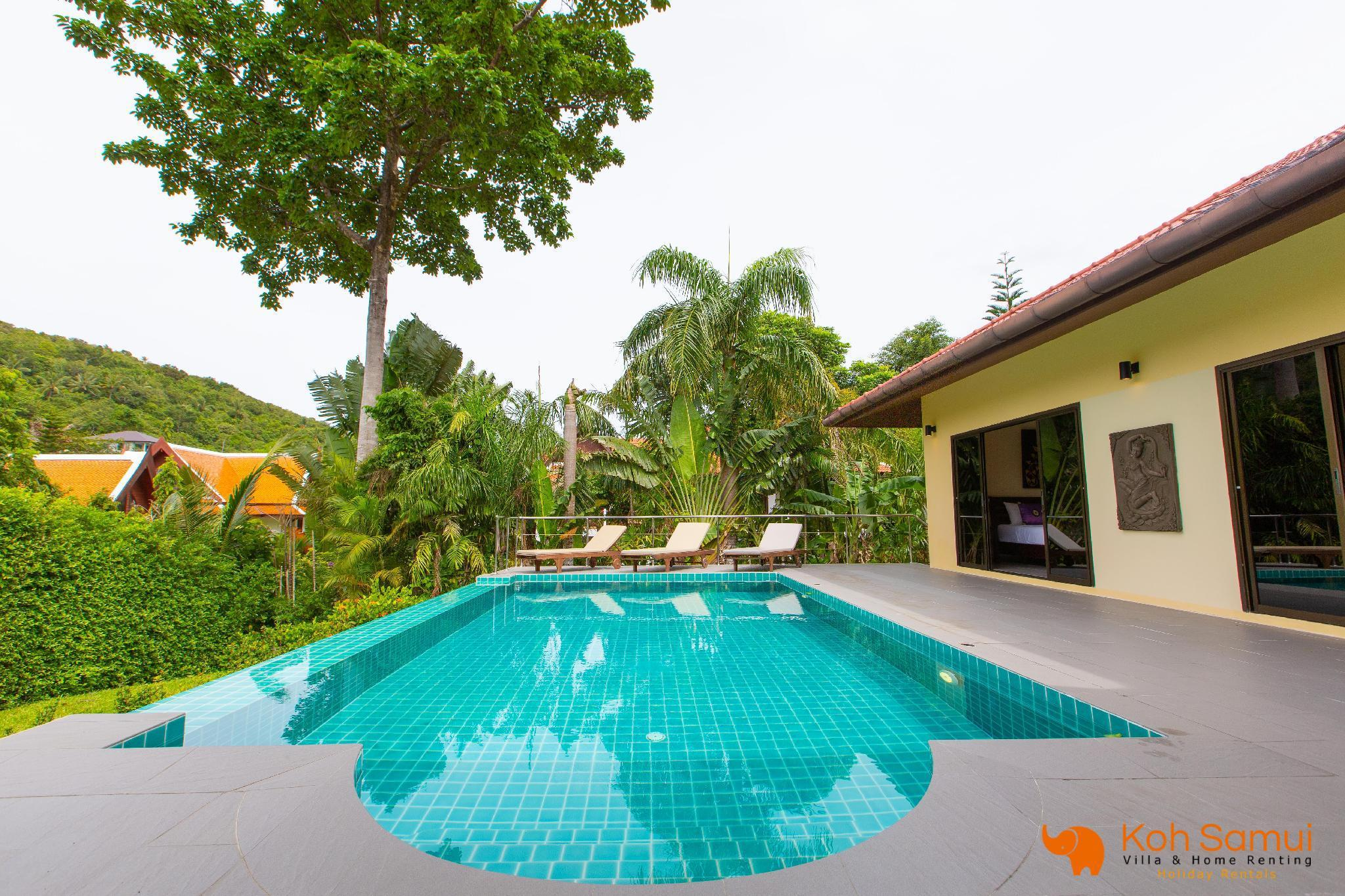 Villa Santi 3BR & Private Pool - Walk to Beach วิลลา 3 ห้องนอน 3 ห้องน้ำส่วนตัว ขนาด 150 ตร.ม. – บางปอ